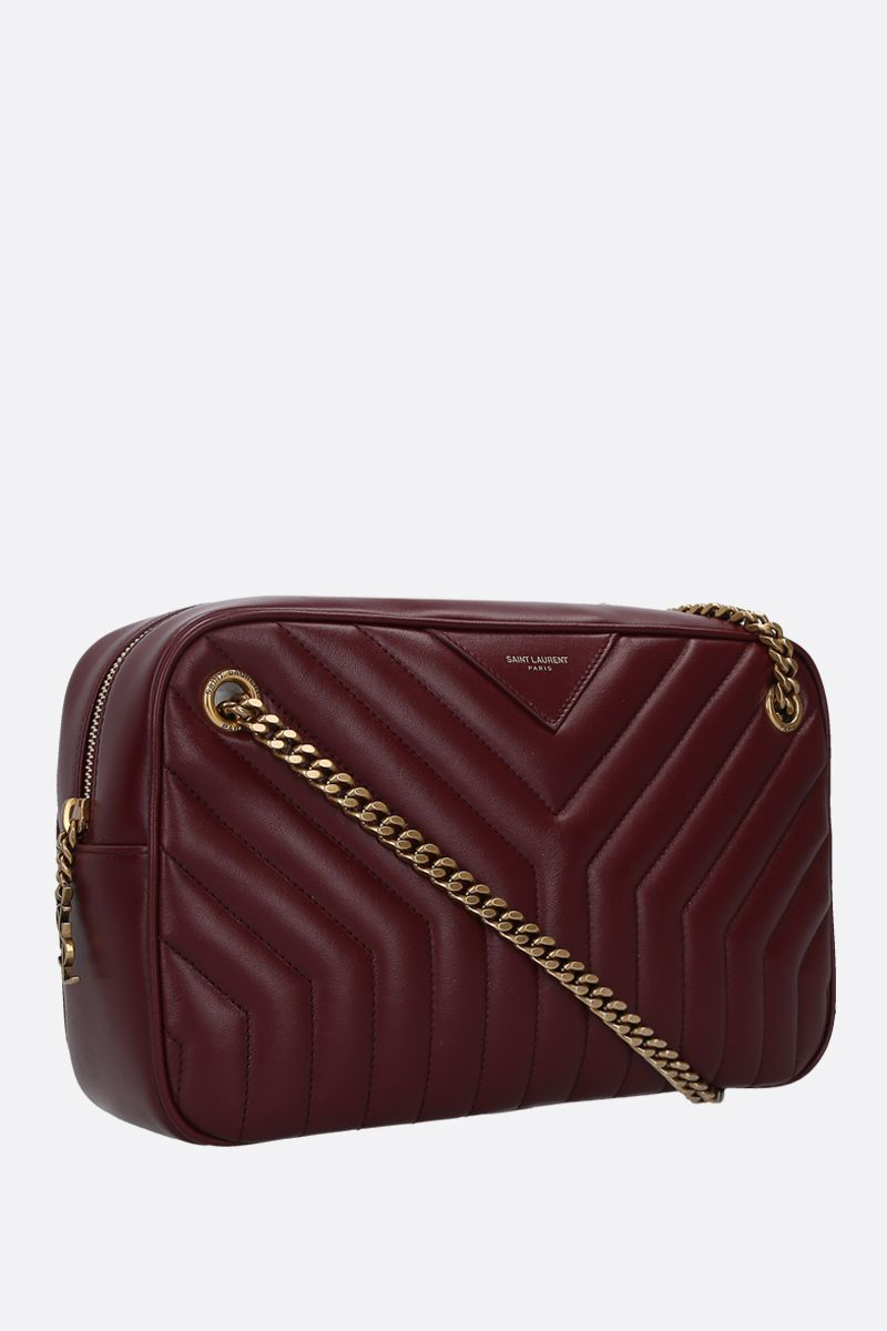 SAINT LAURENT: Joan quilted leather shoulder bag Color Red_2