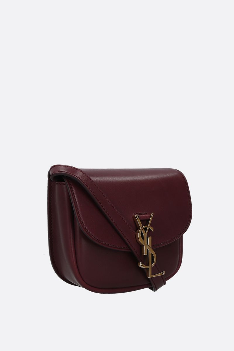 SAINT LAURENT: Kaia mini smooth leather crossbody bag Color Red_2