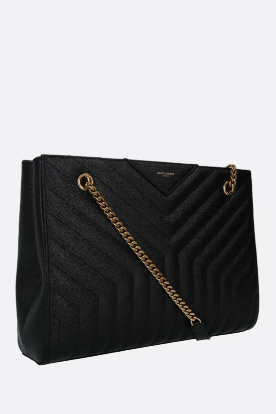 SAINT LAURENT: Joan shoulder bag in quilted leather Color Black_2