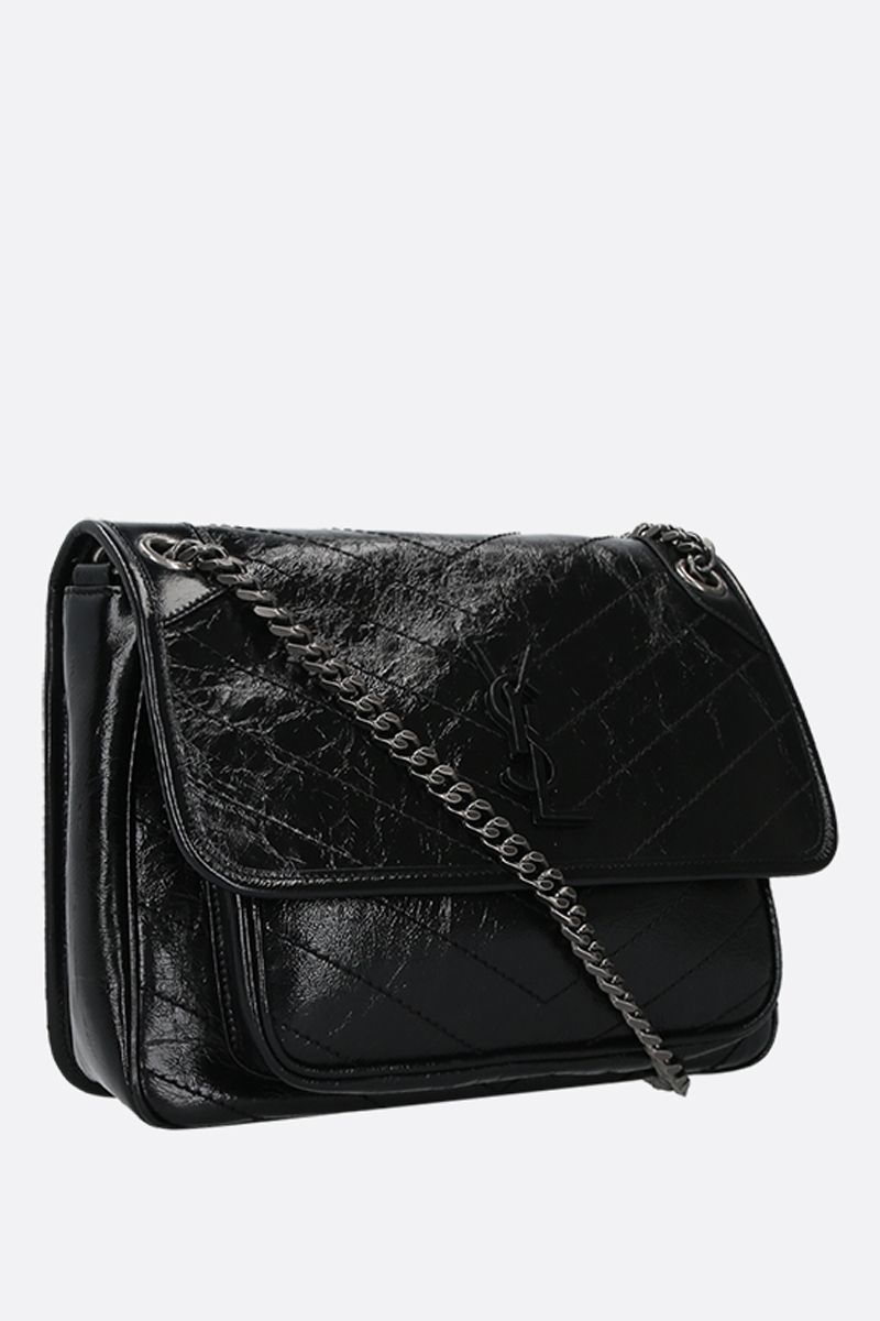 SAINT LAURENT: Niki medium shoulder bag in Vintage leather Color Black_2