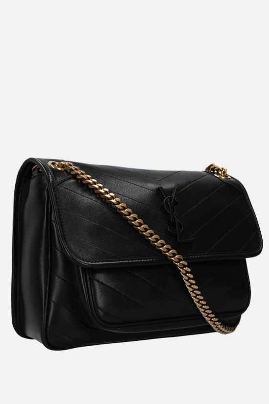 SAINT LAURENT: Niki medium soft nappa shoulder bag Color Black_2