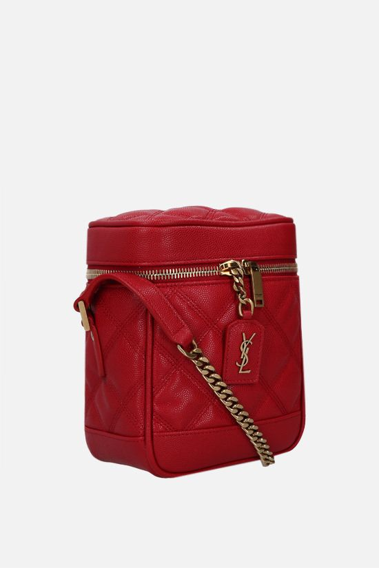 SAINT LAURENT: Vanity 80's quilted leather shoulder bag Color Red_2