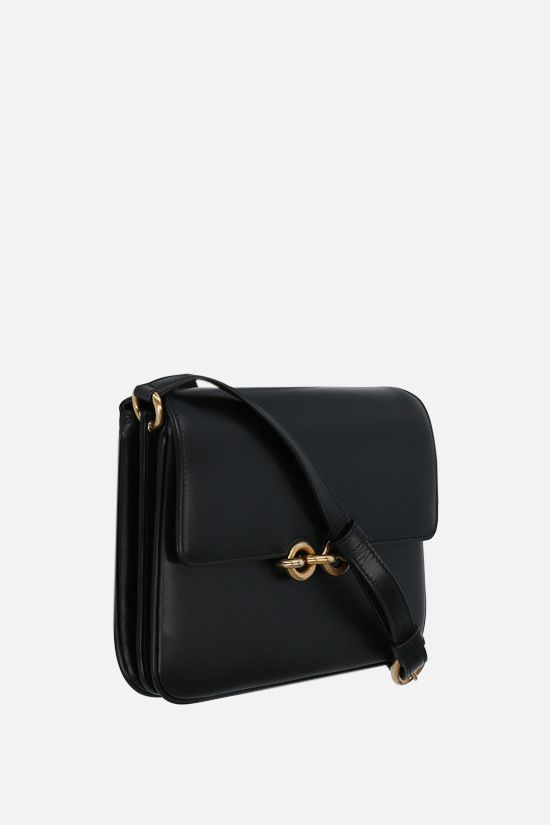 SAINT LAURENT: Le Maillon smooth leather shoulder bag Color Black_2