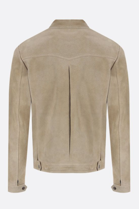 SAINT LAURENT: suede jacket Color Yellow_2