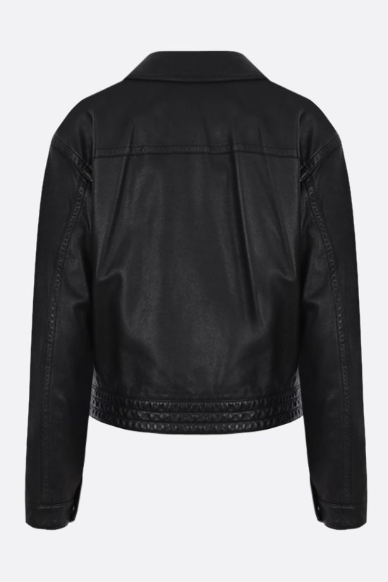 SAINT LAURENT: soft nappa biker jacket Color Black_2