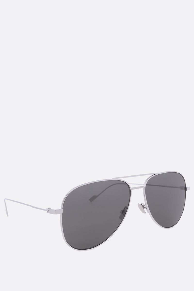 SAINT LAURENT: SL 193 aviator sunglasses Color Grey_2