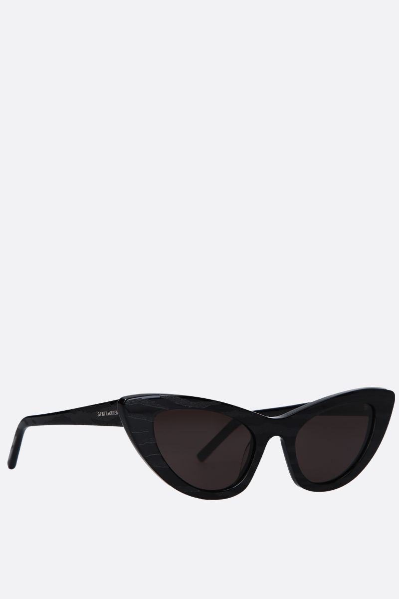 SAINT LAURENT: SL 213 Zebra cat eye sunglasses in acetate_2