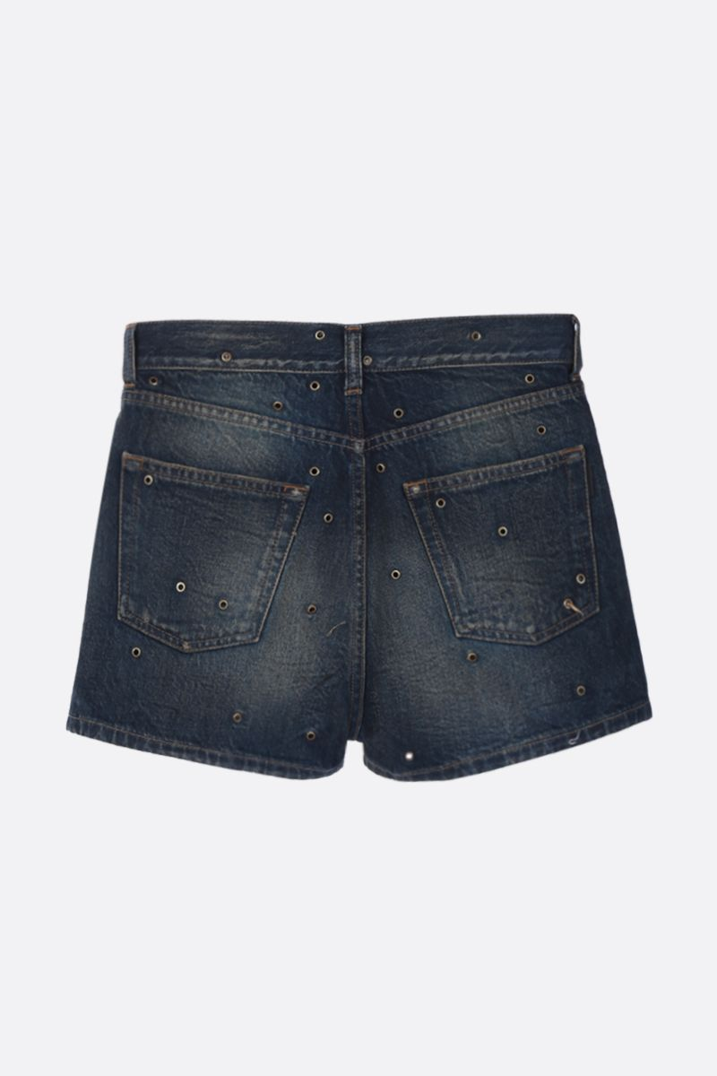SAINT LAURENT: pantalone corto in denim con bochie_2