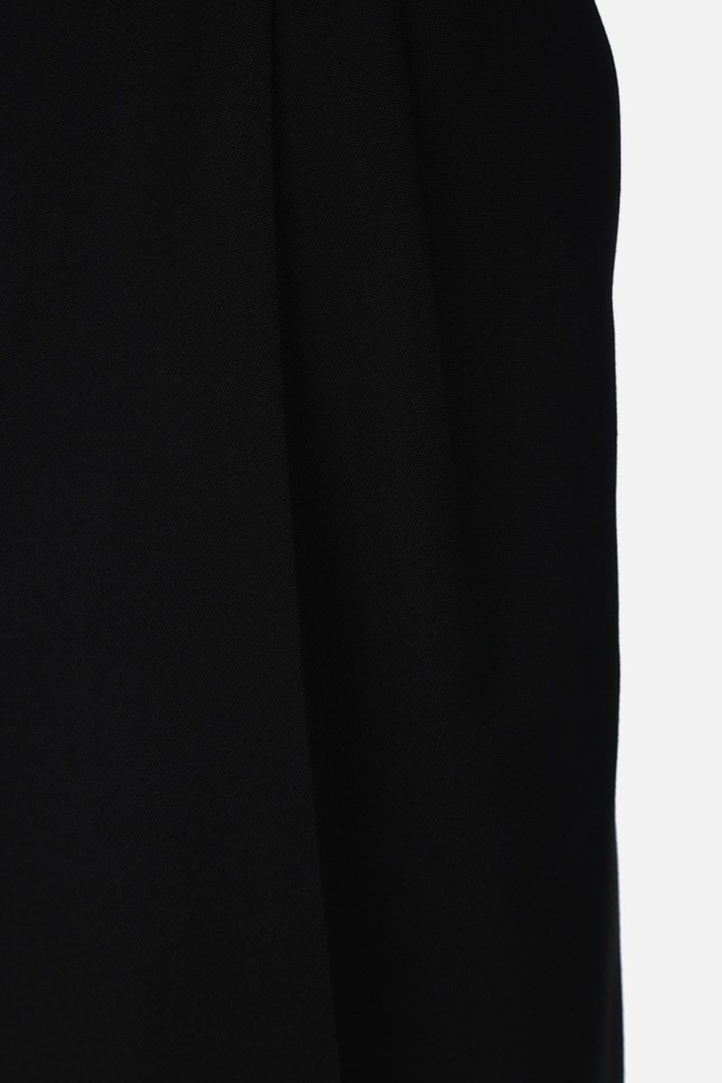 SAINT LAURENT: wool darted shorts Color Black_5