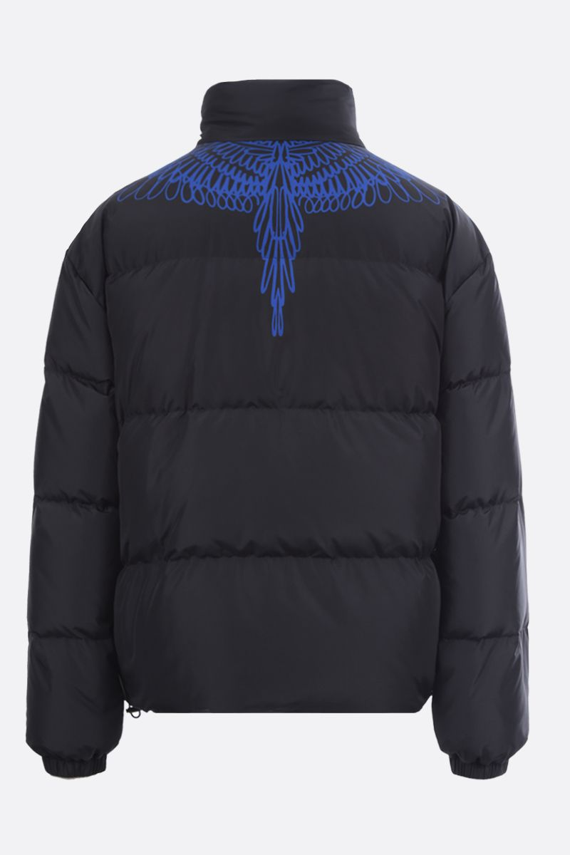 MARCELO BURLON COUNTY OF MILAN: Pictorial Wings nylon down jacket Color Black_2