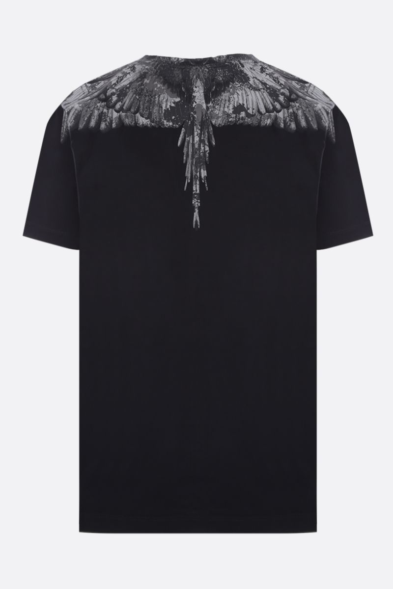 MARCELO BURLON COUNTY OF MILAN: t-shirt in cotone stampa Camou Wings Colore Nero_2