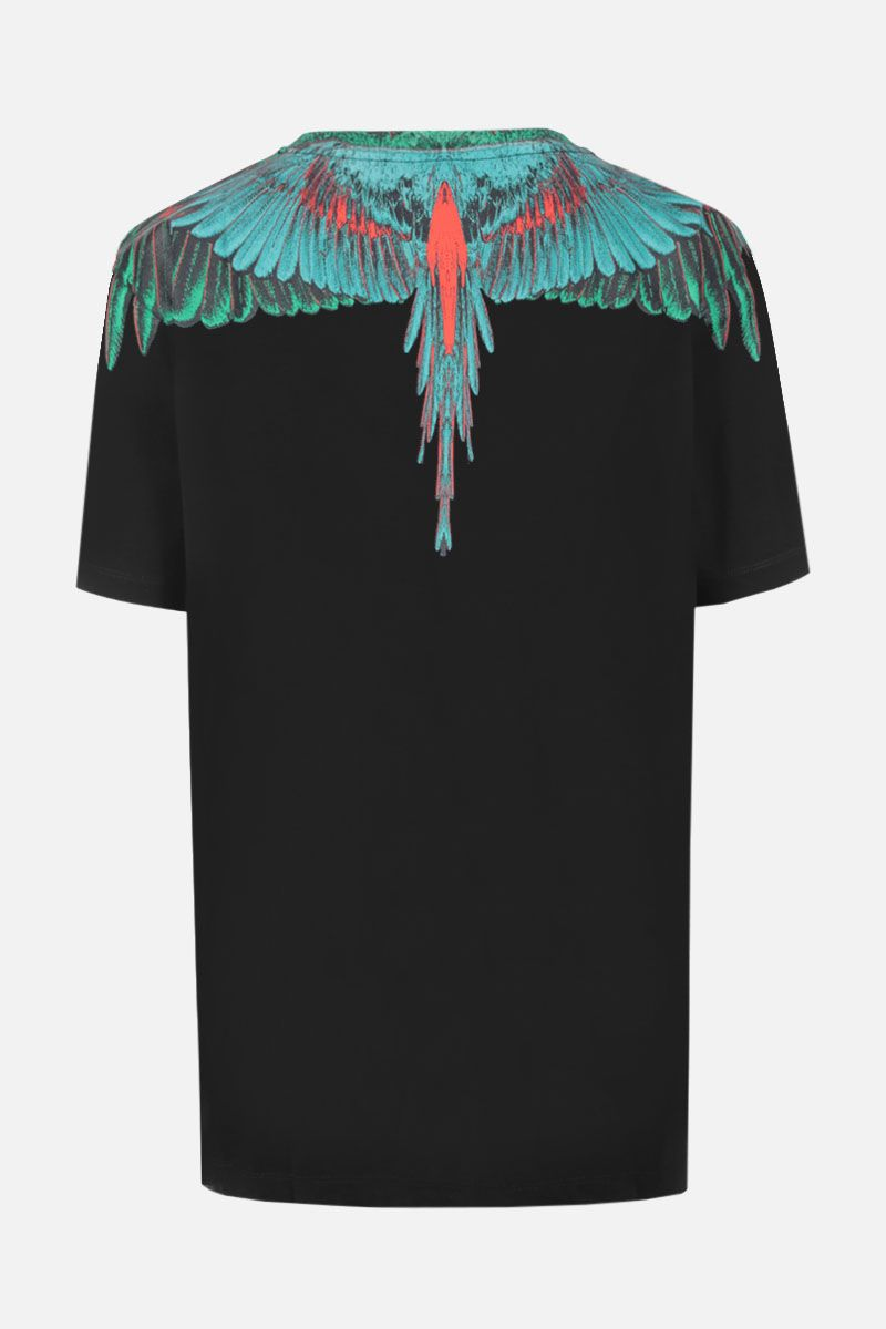 MARCELO BURLON COUNTY OF MILAN: t-shirt in jersey stampa Wings Colore Nero_2