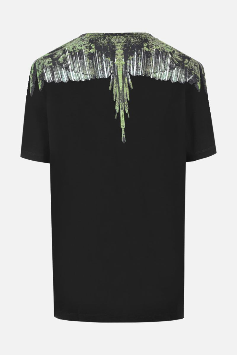 MARCELO BURLON COUNTY OF MILAN: t-shirt in jersey stampa Wood Wings Colore Nero_2