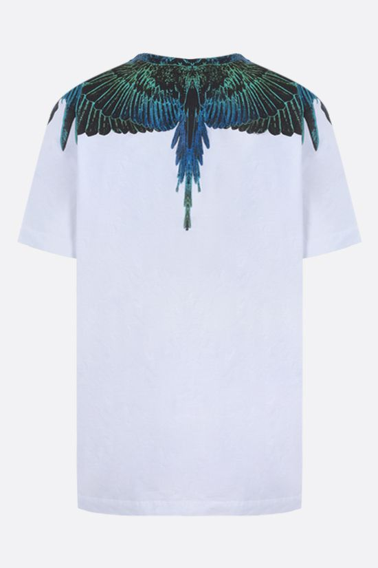 MARCELO BURLON COUNTY OF MILAN: t-shirt Wings in cotone Colore Bianco_2