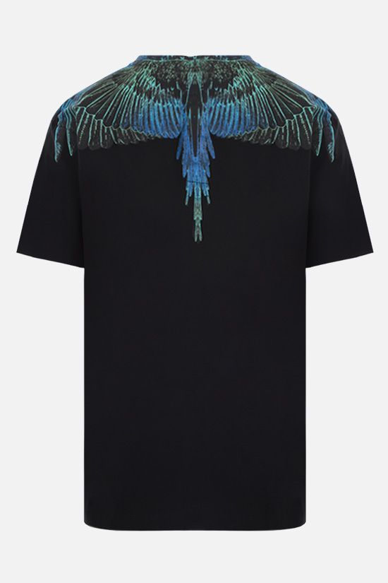 MARCELO BURLON COUNTY OF MILAN: t-shirt Wings in cotone Colore Nero_2