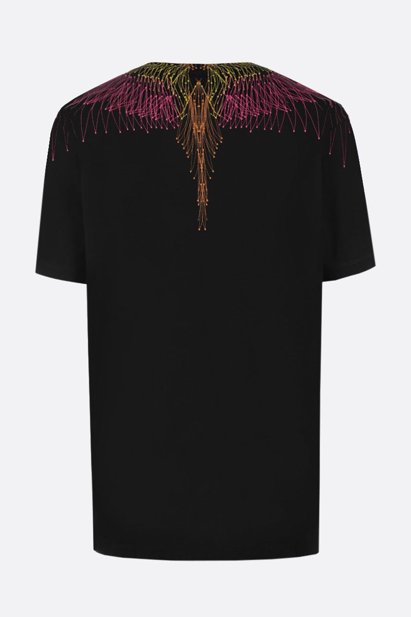 MARCELO BURLON COUNTY OF MILAN: t-shirt in cotone stampa Bezier Wings_2