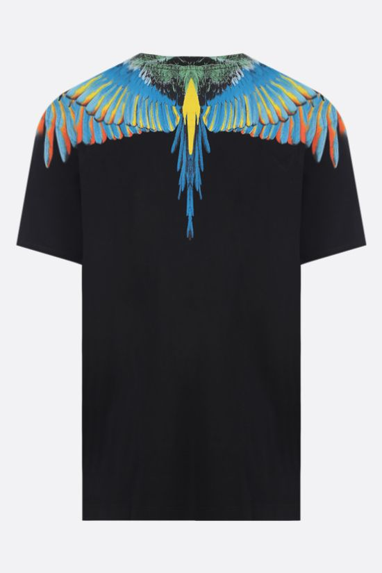 MARCELO BURLON COUNTY OF MILAN: Wings cotton t-shirt Color Black_2