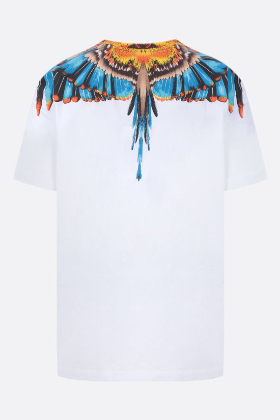 MARCELO BURLON COUNTY OF MILAN: t-shirt Grizzly Wings in cotone Colore Bianco_2