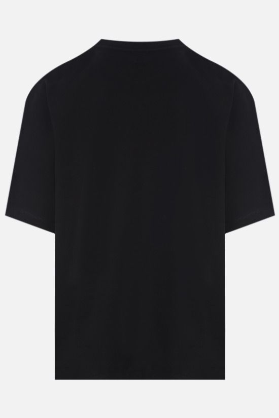 MARCELO BURLON COUNTY OF MILAN: t-shirt oversize Double Chain Feathers in cotone Colore Nero_2