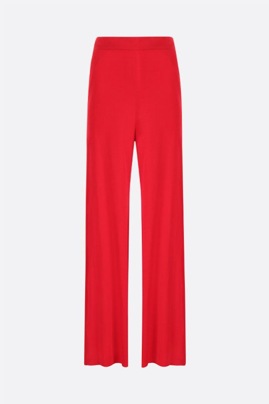 ALEXANDRE VAUTHIER: wide-leg stretch jersey pants Color Black_1