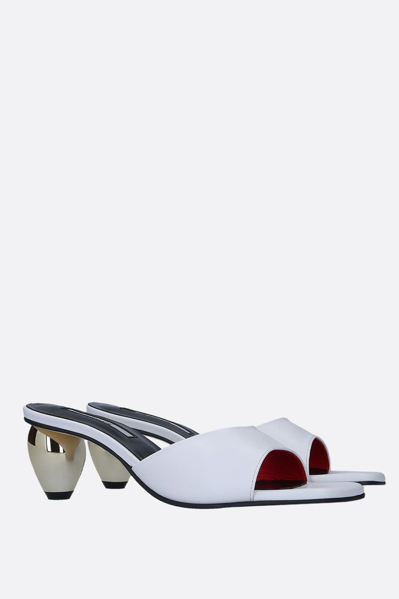 YUUL YIE: June sandals in smooth leather Color White_2