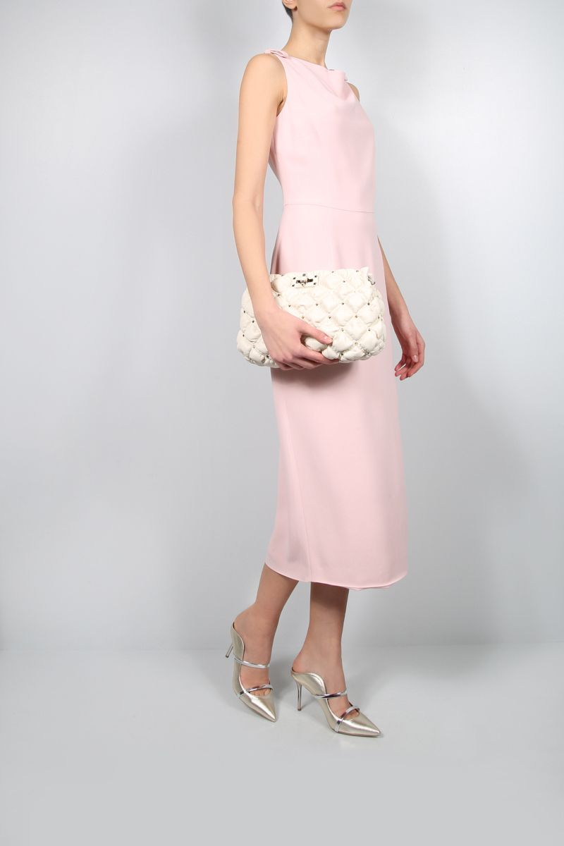 VALENTINO: Cady Evolution sleeveless dress Color Pink_2