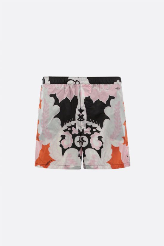 VALENTINO: World Arazzo print nylon swim shorts Color Multicolor_1