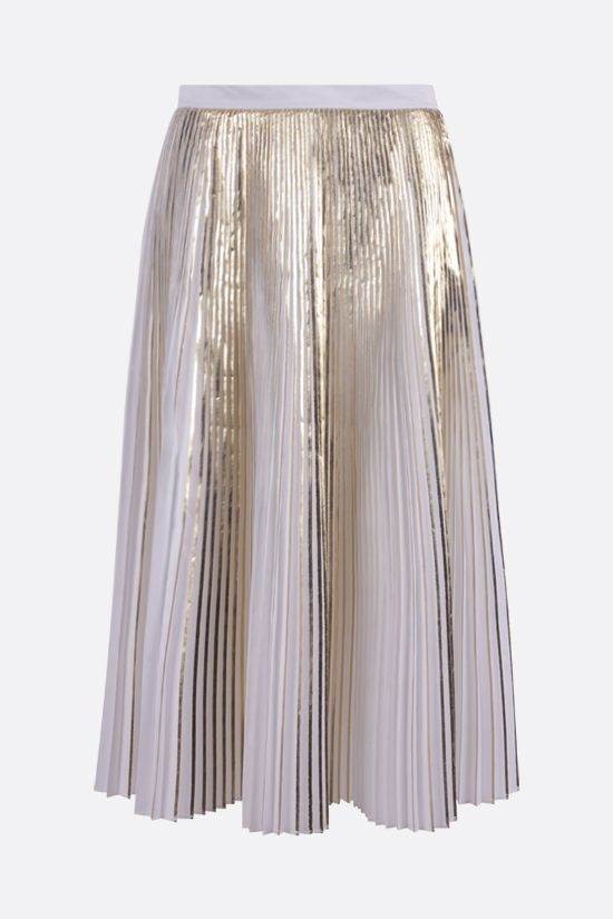 VALENTINO: technical cotton pleated skirt Color White_1