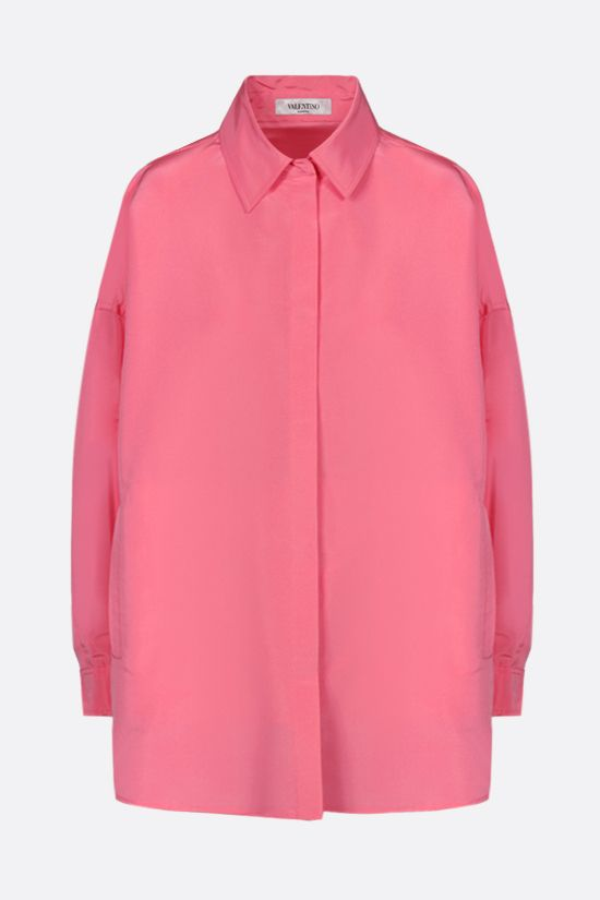 VALENTINO: oversize taffetà overshirt Color Purple_1