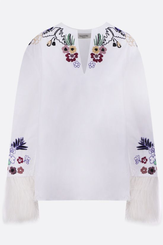 VALENTINO: World Arazzo embroidered cotton blouse Color Multicolor_1