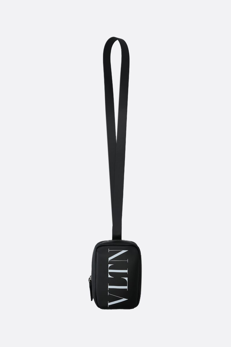 VALENTINO GARAVANI: VLTN smooth leather smartphone holder Color Black_1