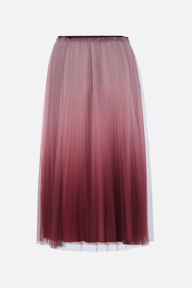 RED VALENTINO: pleated tulle long skirt Color Pink_2
