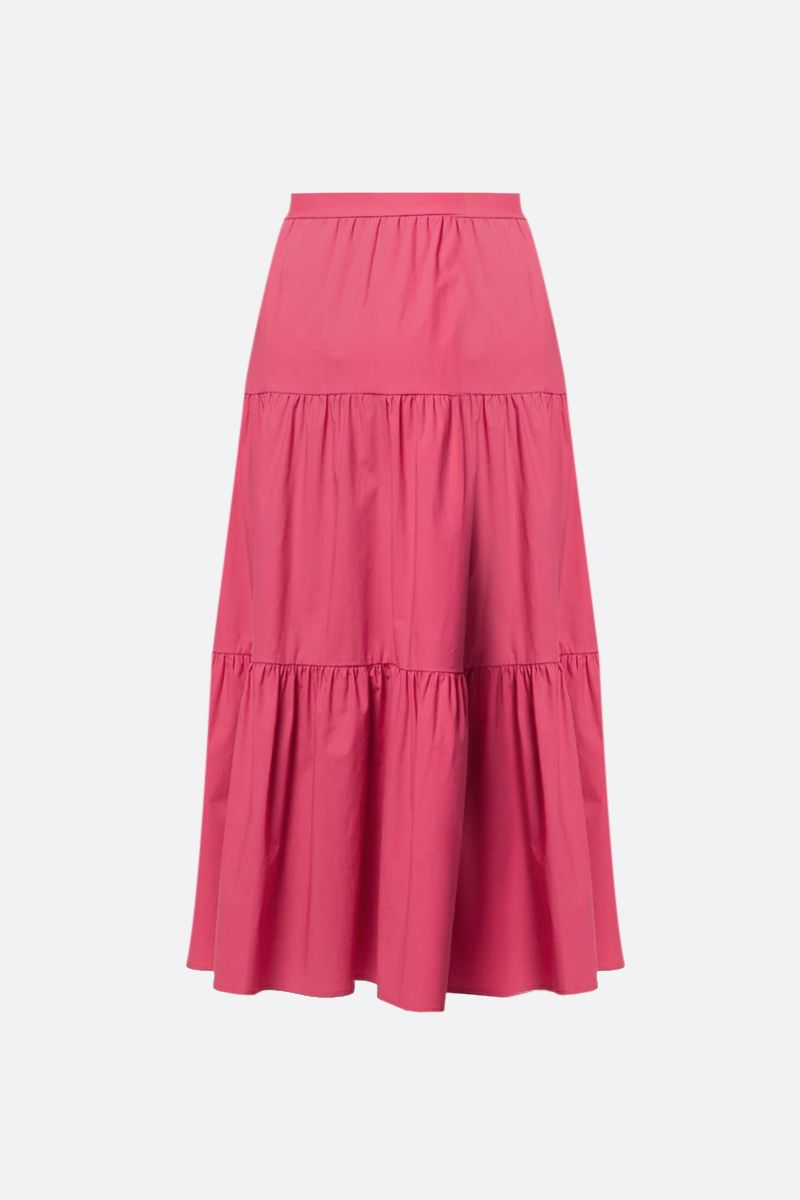RED VALENTINO: cotton flounced skirt Color Red_2