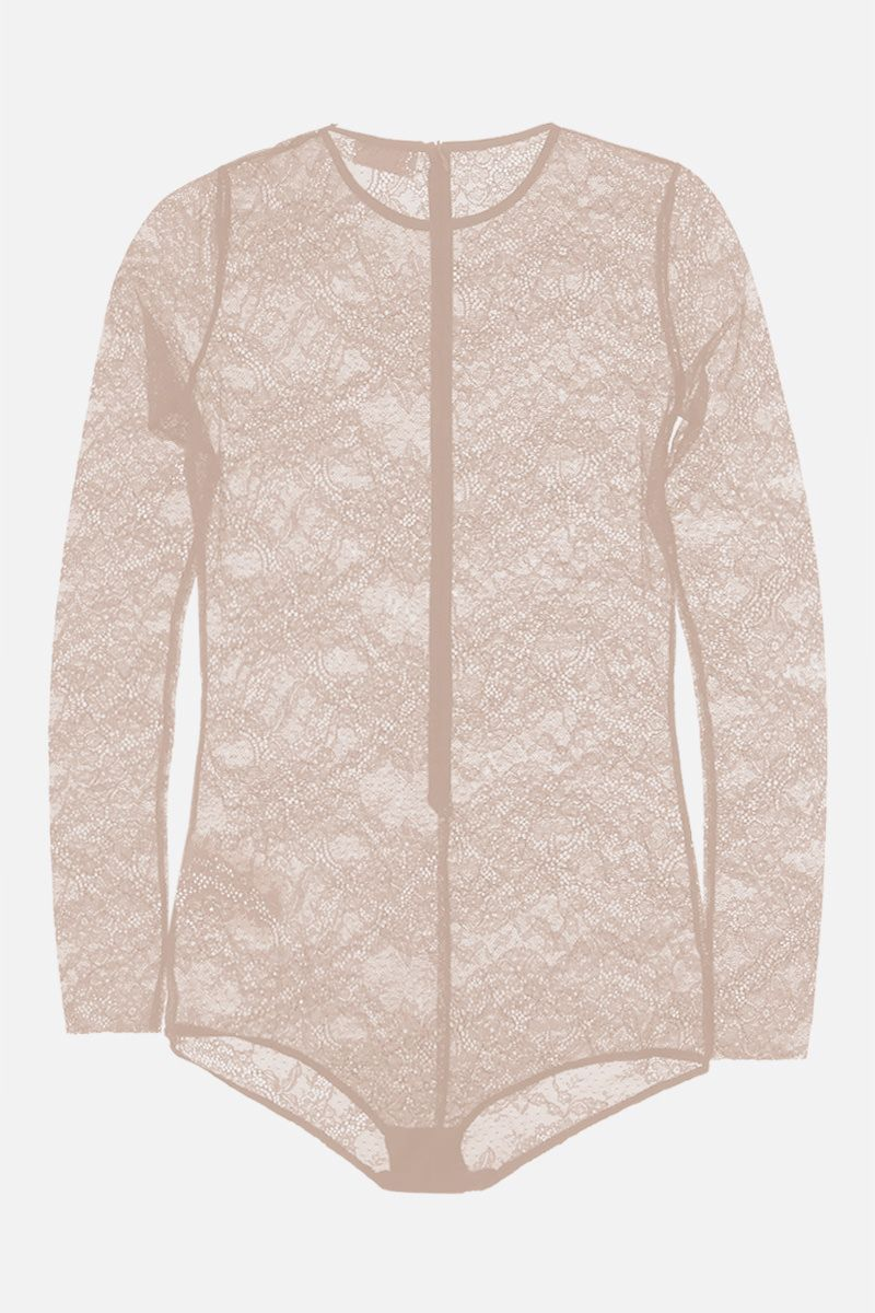 RED VALENTINO: jersey lace bodysuit Color Neutral_2