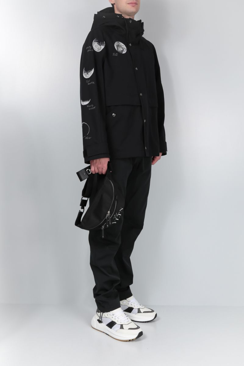 VALENTINO: Moon Dust padded parka in cotton Color Black_2