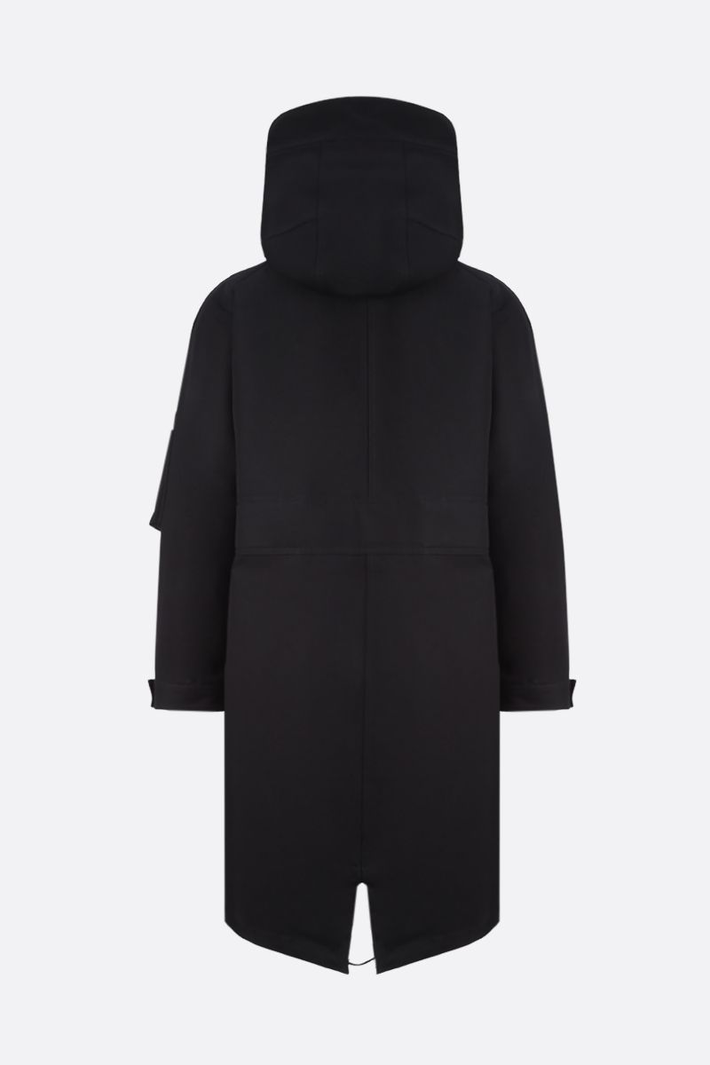 VALENTINO: VLTN TAG technical cotton parka Color Black_2