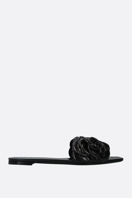 VALENTINO GARAVANI: sandalo slide Atelier Shoes 03 Rose Edition in pelle lucida Colore Nero_1