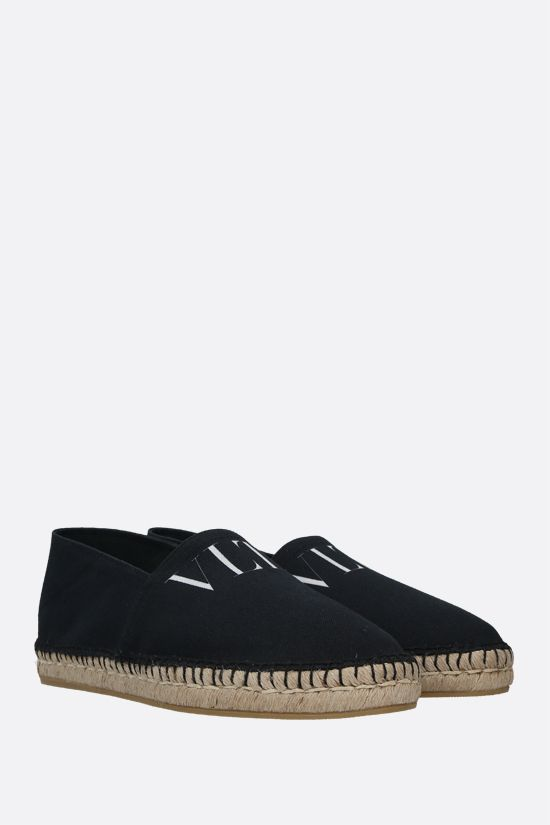 VALENTINO GARAVANI: VLTN canvas espadrilles Color Black_2