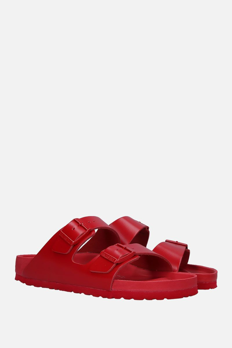 VALENTINO GARAVANI: Arizona slide sandals in smooth leather Color Red_2