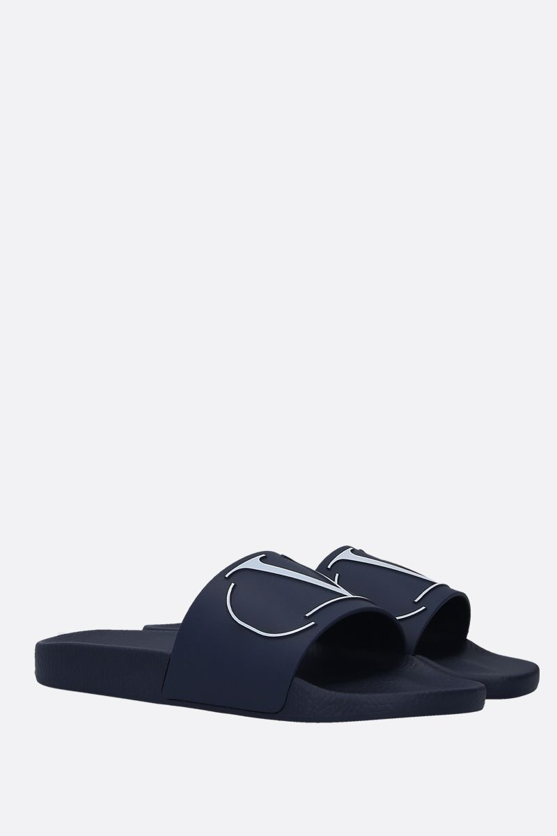 VALENTINO GARAVANI: VLOGO rubber pool slides Color Multicolor_2