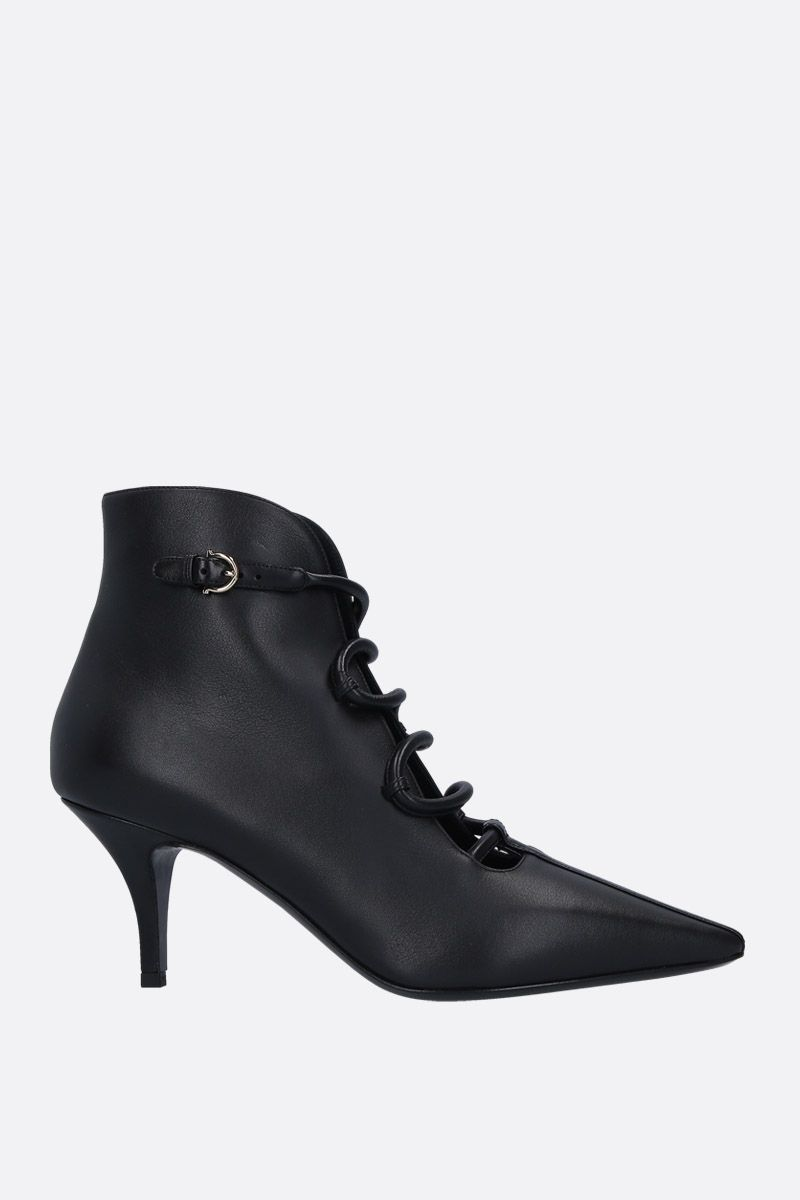 SALVATORE FERRAGAMO: Ciconia ankle boots in smooth leather Color Black_1