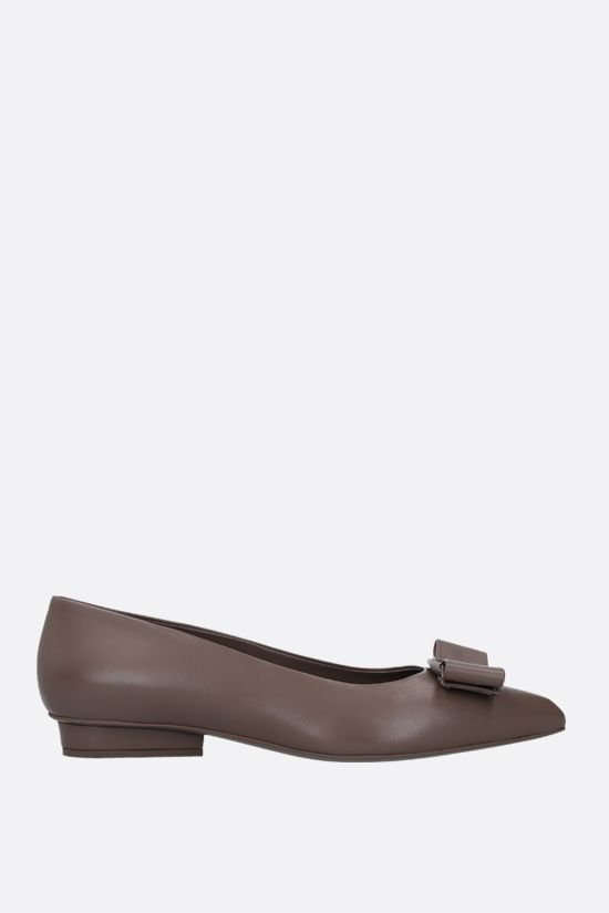 SALVATORE FERRAGAMO: Viva nappa ballerinas Color Brown_1