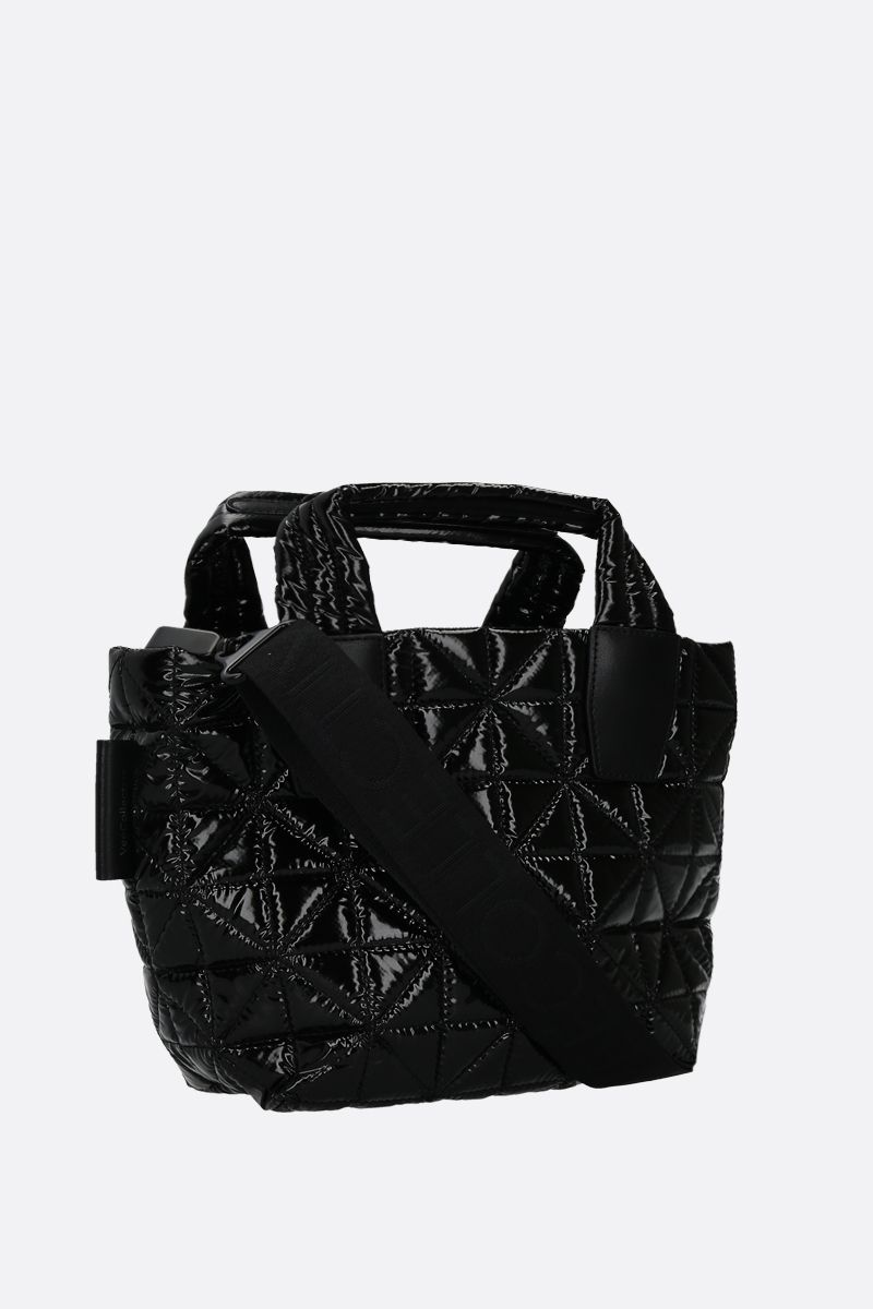 VEE COLLECTIVE: Vee mini Ripstop coated nylon tote Color Black_2