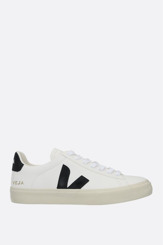 VEJA: Campo grainy leather sneakers Color Grey_1