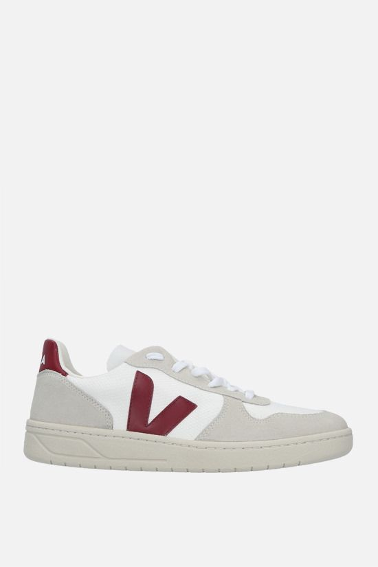 VEJA: V-10 mesh and suede sneakers Color Multicolor_1