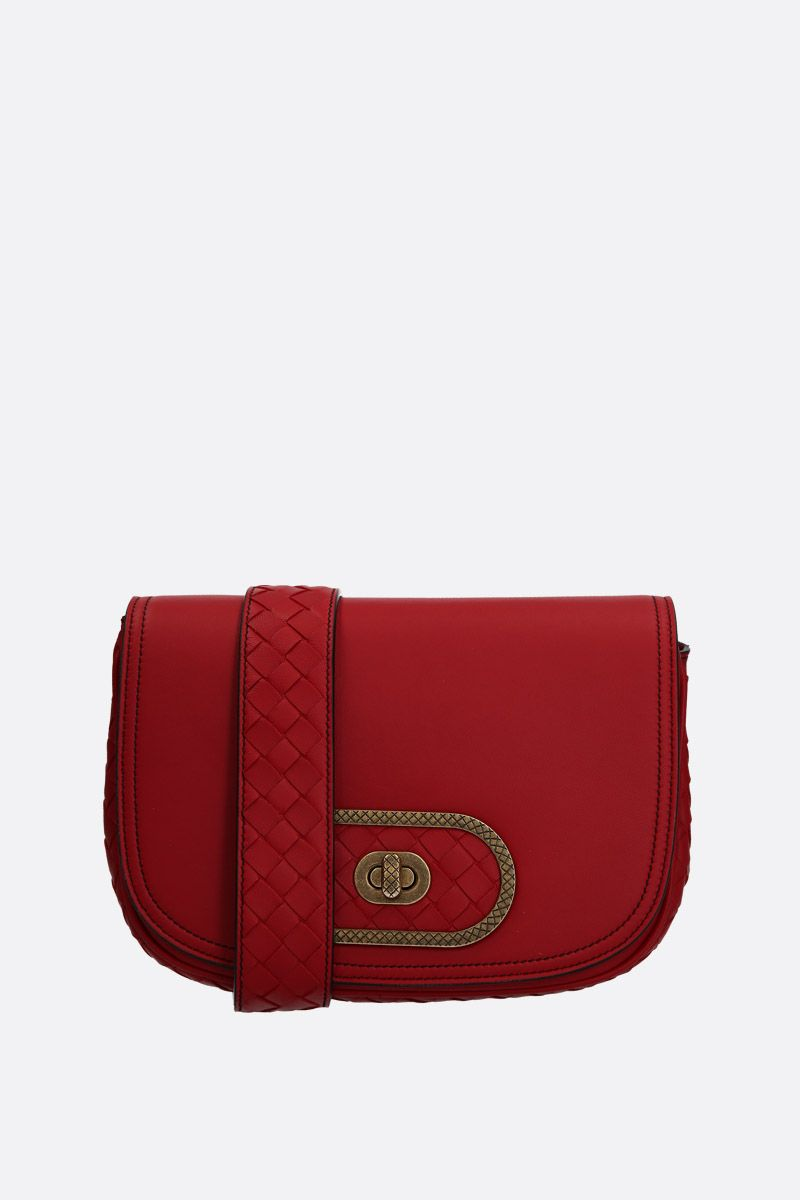 BOTTEGA VENETA: BV Luna crossbody bag in smooth nappa Color Red_1
