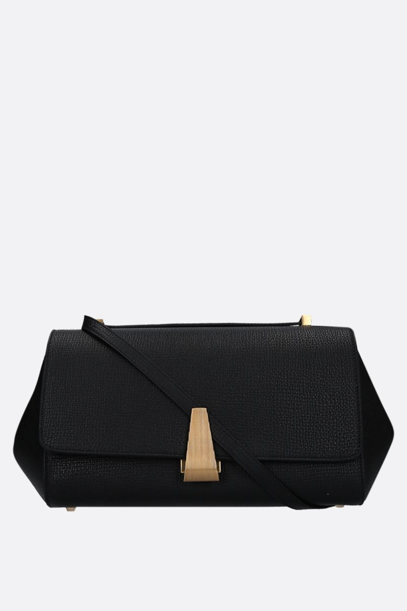 BOTTEGA VENETA: BV Angle shoulder bag in grainy leather Color Black_1