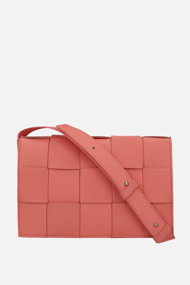 BOTTEGA VENETA: Cassette Maxi Intrecciato nappa shoulder bag Color Orange_1