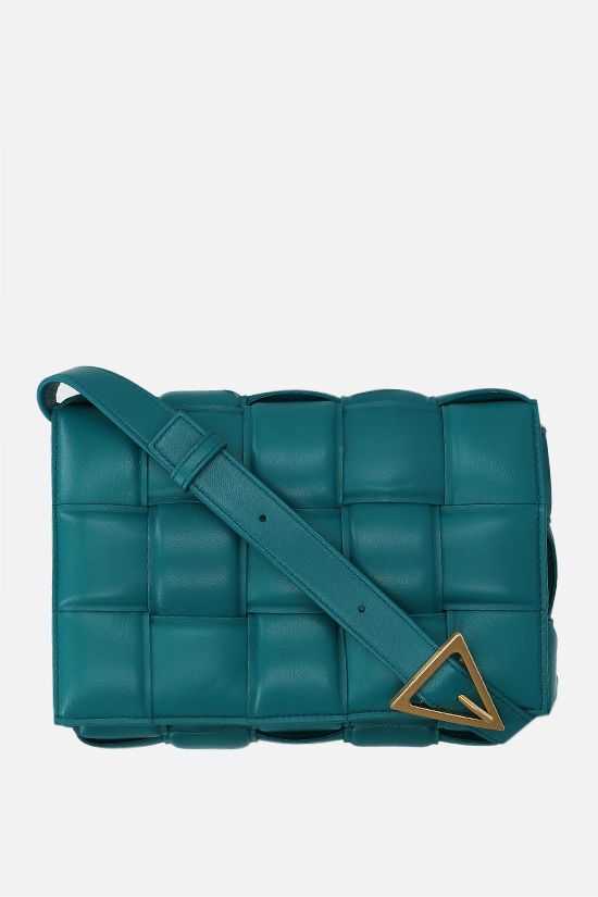 BOTTEGA VENETA: Cassette shoulder bag in padded Intrecciato nappa Color Blue_1