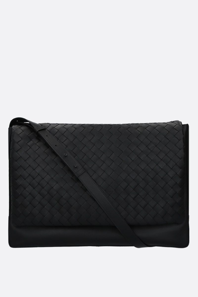 BOTTEGA VENETA: Intrecciato VN large messenger bag Color Black_1